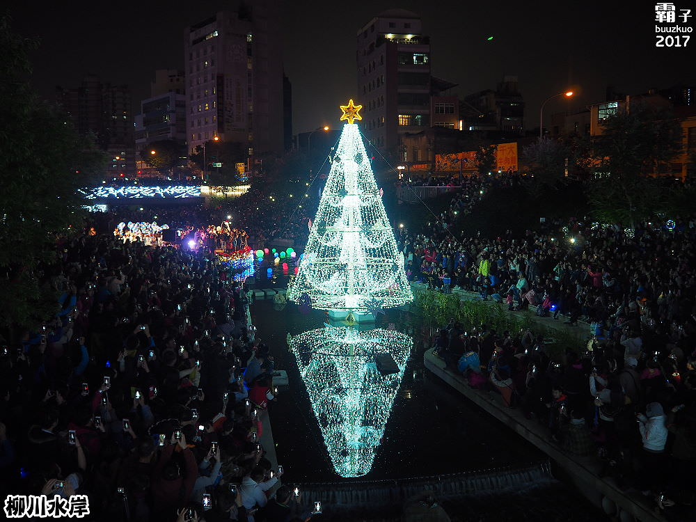 20171210010208 84 - 柳川水岸步道聖誕樹亮起來,中區柳川光景藝術展同步點燈~