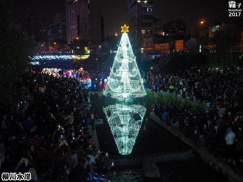 <台中景點> 柳川水岸步道水上聖誕樹亮起來,花漾柳川河岸光景藝術展,最水聖誕樹正式點燈!