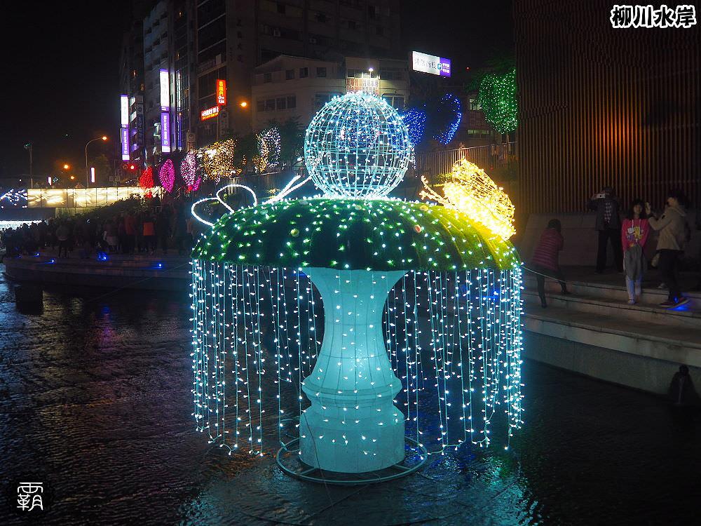 20171210010612 31 - 柳川水岸步道聖誕樹亮起來,中區柳川光景藝術展同步點燈~