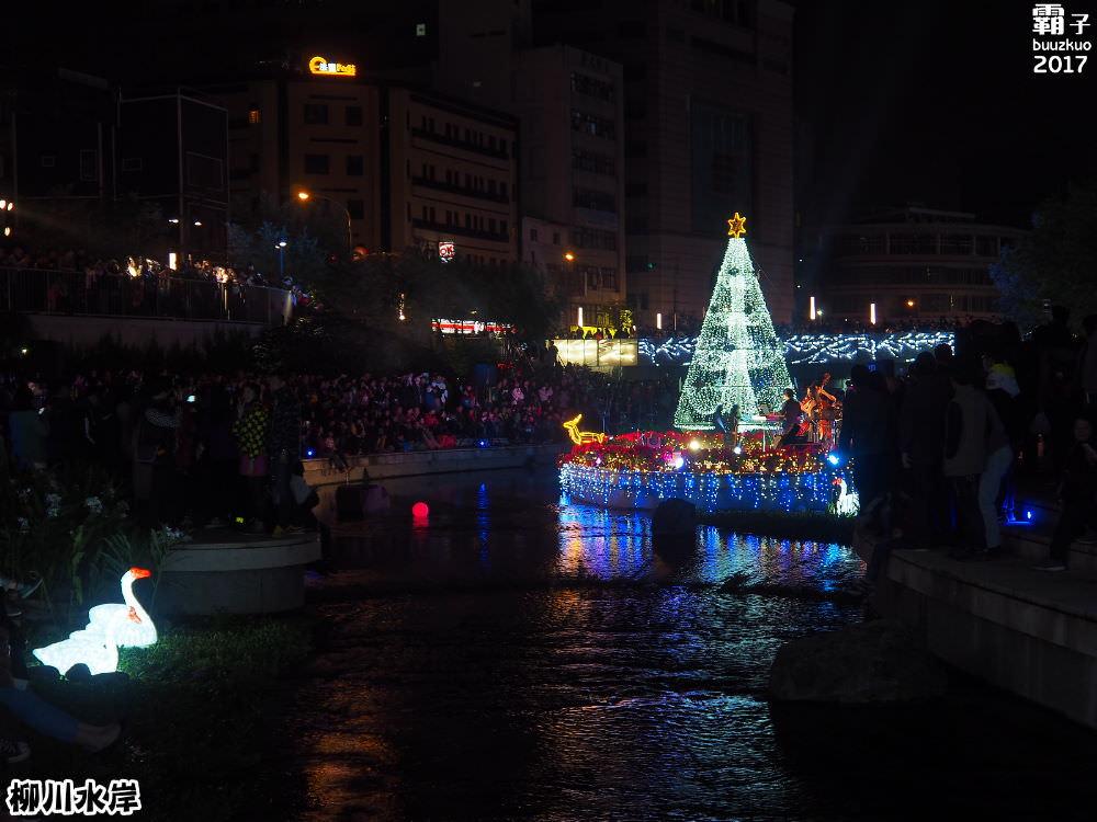 20171210010629 2 - 柳川水岸步道聖誕樹亮起來,中區柳川光景藝術展同步點燈~