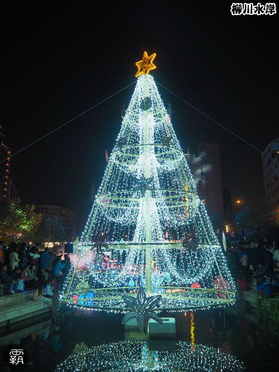 20171210011039 84 - 柳川水岸步道聖誕樹亮起來,中區柳川光景藝術展同步點燈~
